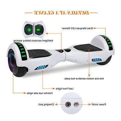 "6.5"" Self Balancing Hoverboard w/ Speaker/LED New"