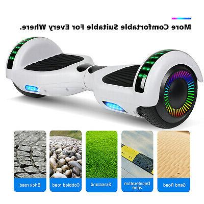 "6.5"" Balancing Hoverboard w/ Bluetooth Speaker/LED New"