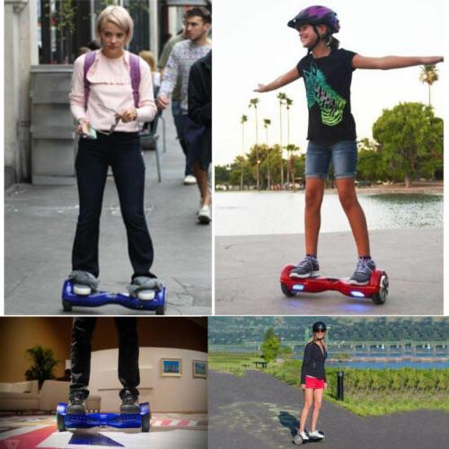 New 6.5 skate boards Electric Balancing 2 LED Flash Wheels UL