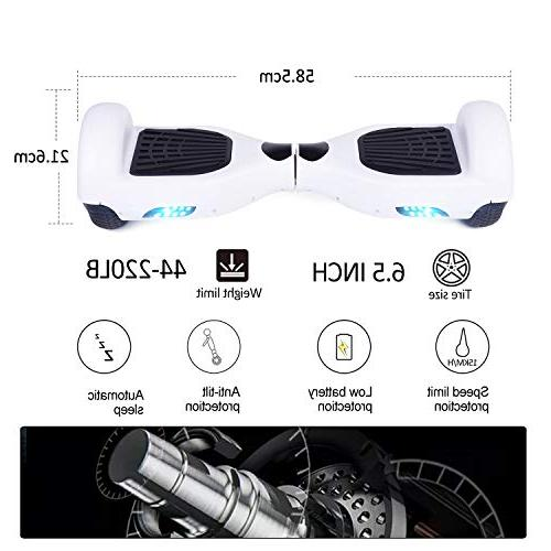 VEVELINE 6.5'' Two-Wheel Self Hoverboard with LED