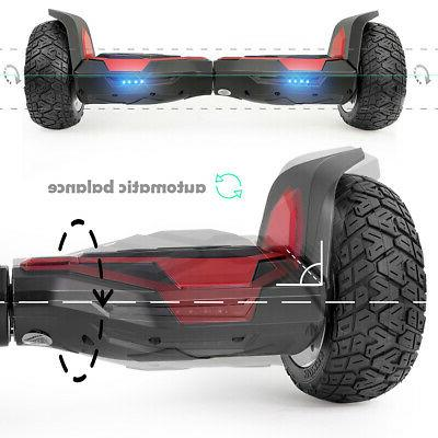 XtremepowerUS All Terrain Inch Off-Road Self-Balancing Hoverboard, Red