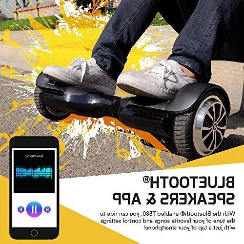 Swagtron Hoverboard w/Speaker Wheel iPhone &
