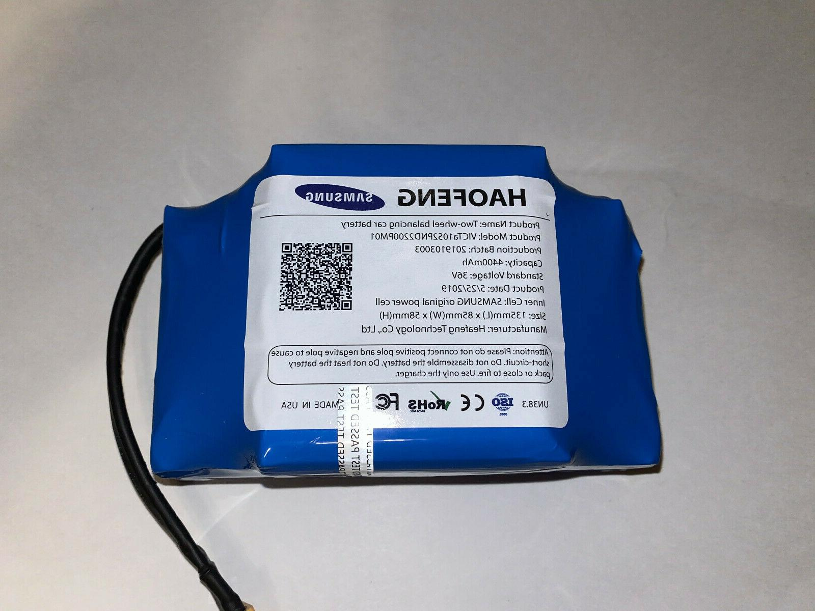 battery for smart self balancing replacement 36v