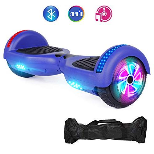 blue two wheel self hoverboard
