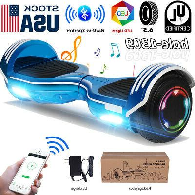 bluetooth hoverboards electric self balancing scooter led
