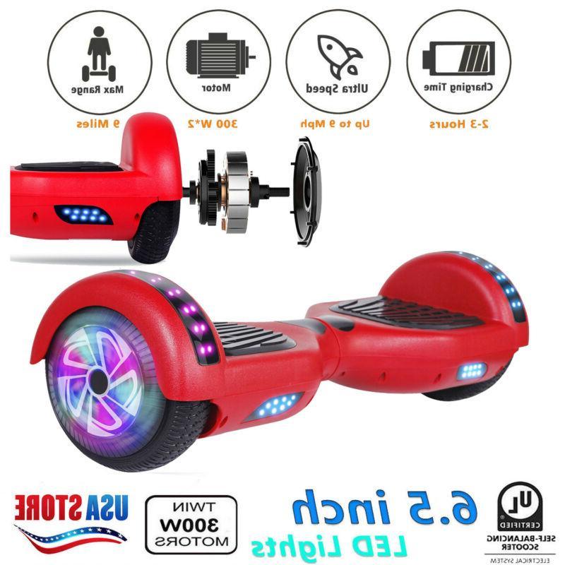 dual 300w motors led smart hover board