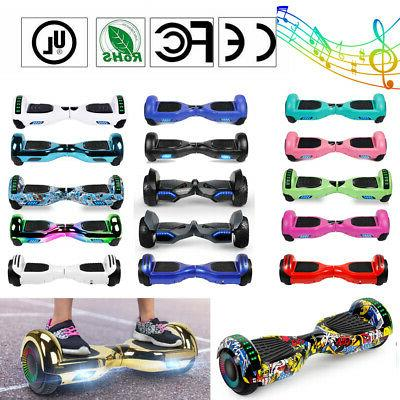 electric bluetooth hoverboard self balance scooter led