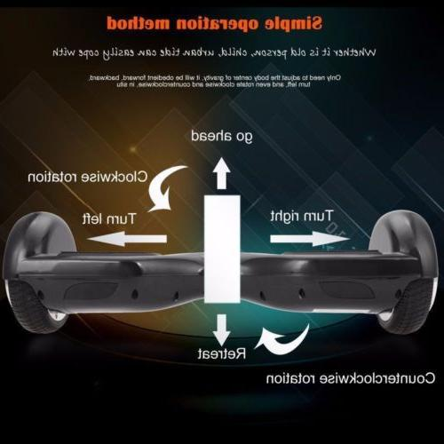 Electric Chrome Self Balancing Bluetooth US