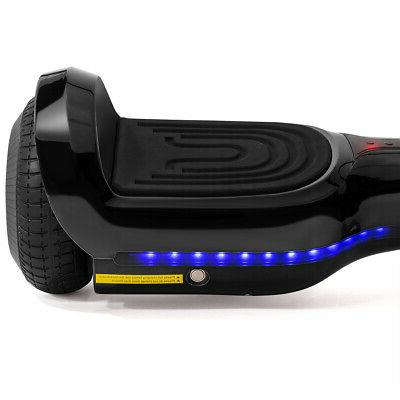 Electric Hoverboard Certified Bluetooth with Led Light, Black