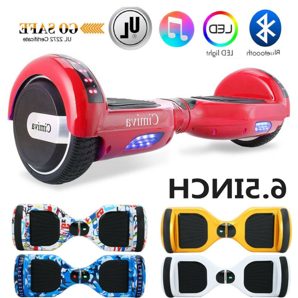 """BASIC/BLUETOOTH 6.5"""" ELECTRIC SCOOTER HOVER-BOARD 2WHEELS SE"""
