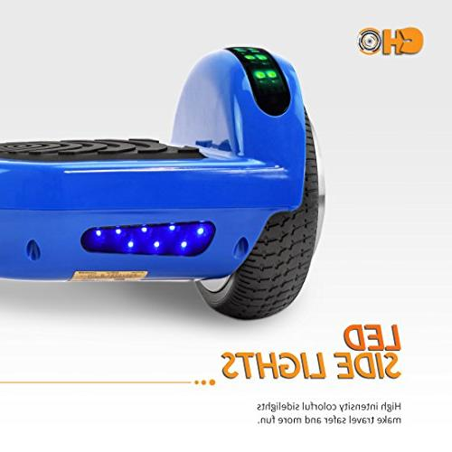 CHO Electric Balancing Dual Motors Scooter Hoverboard with Built-in and LED Lights