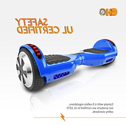 CHO Electric Self Dual Scooter with Speaker and LED Lights Certified