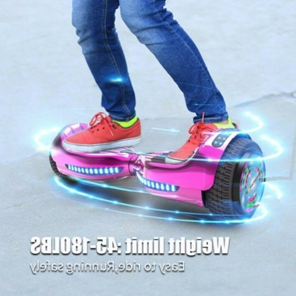 "Flash UL2272 Certified Bluetooth Hoverboard 6.5"" Balancing"