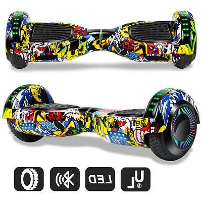 """Graffiti 6.5"""" Hoverboard Bluetooth Electric Self Scooter With Carry"""