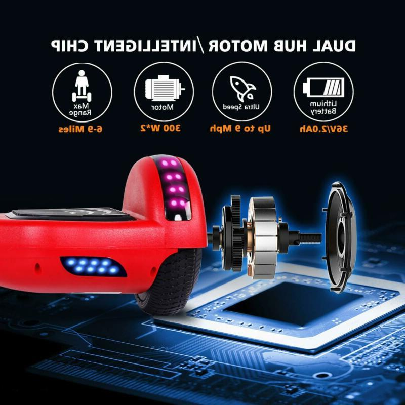 """Hover 6.5"""" LED Hover Board UL2272 Scooter"""