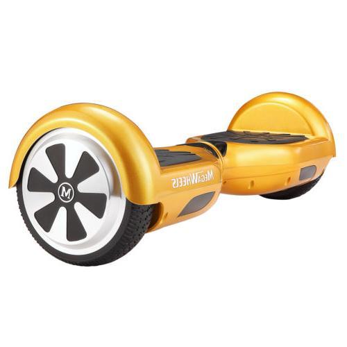 MegaWheels Certified Gold Self Balancing Scooter BT