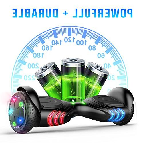 TOMOLOO Hoverboards Smart Scooter Two-Wheel Electric Scooter Light - Hover UL2272 Battery …