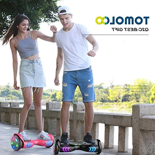 TOMOLOO Hoverboards Smart Two-Wheel Scooter Hover Board Certified Battery …