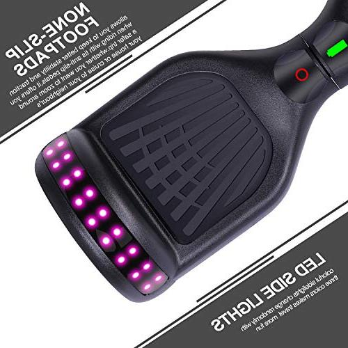 """Felimoda 6.5"""" Hoverboard Kids and Self-Balancing Scooter- UL2272 Certificated, withColorful Lights"""