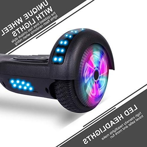Felimoda Kids and Adult Self-Balancing Scooter- withColorful RGB Lights