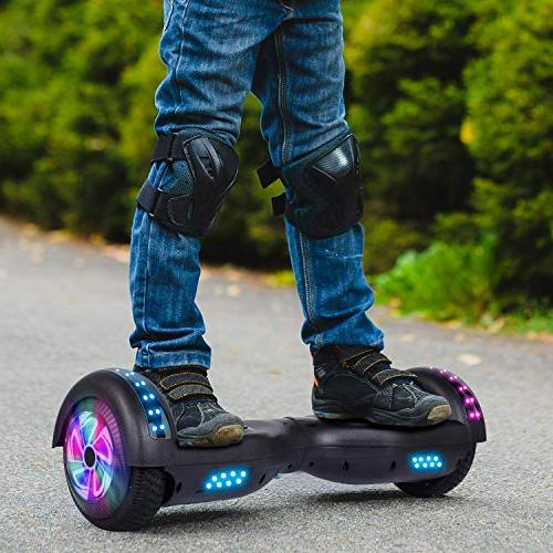 Felimoda Hoverboard Kids and Two-Wheel Self-Balancing UL2272 withColorful LED Lights
