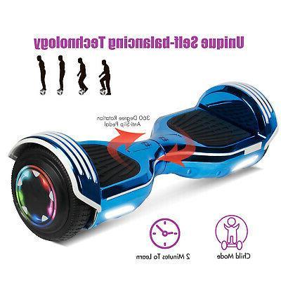 Hoverboard 6.5'' Lights UL2272 Balancing Scooter + Bag Kids Adult