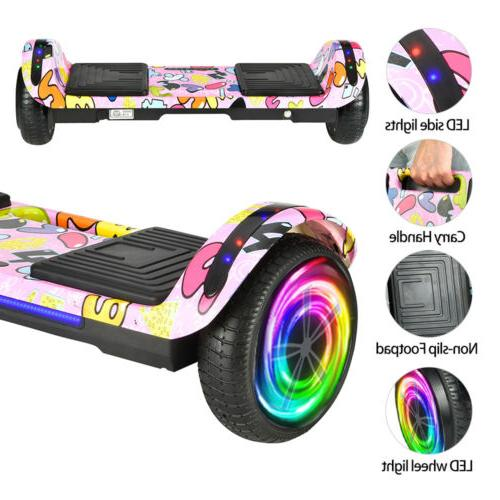 Hoverboard LED Bluetooth Chrome Electric Self 6.5""