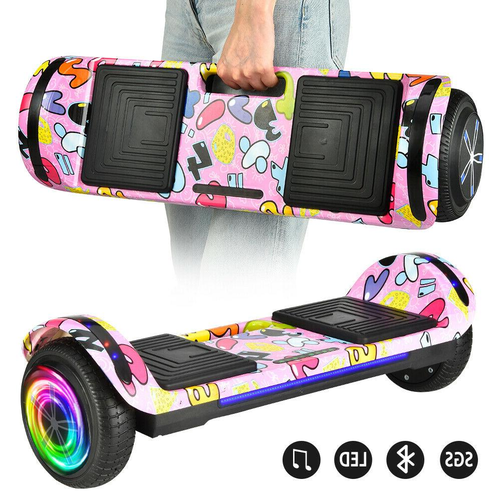 hoverboard led bluetooth chrome electric self balancing