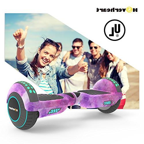 Hoverboard Lithium-Free Balancing Scooter 2272 Certified, Metallic Chrome LED Light