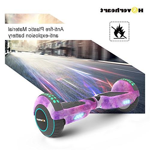 Hoverboard Two-Wheel Self Balancing Scooter UL 2272 Certified, Metallic Chrome LED