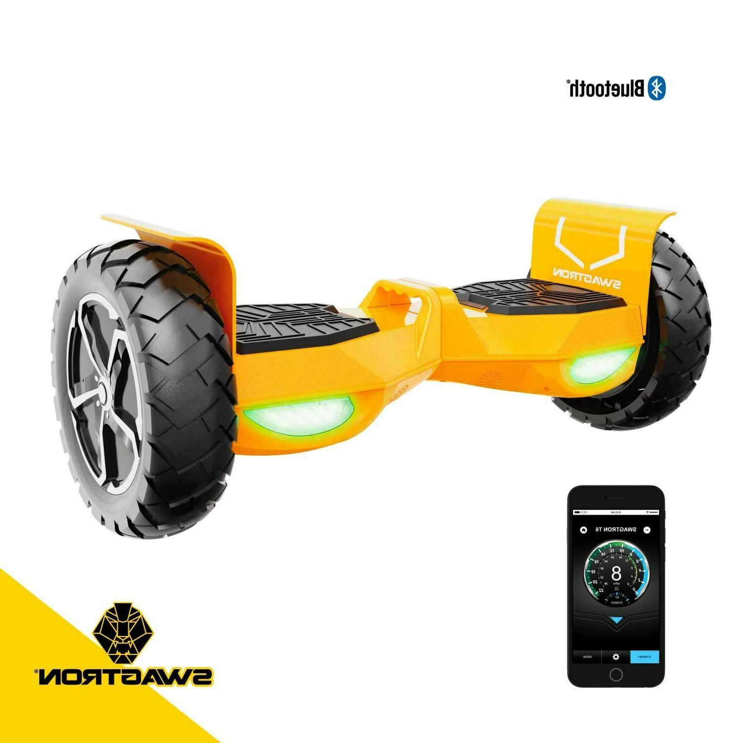Swagtron Hoverboard Off-Road Bluetooth Self Scooter Adults
