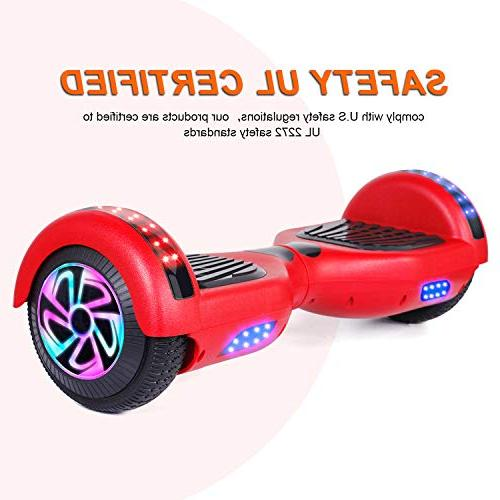 "Electric Certified,6.5"" Scooter for Kids Adults,with Speaker and LED"