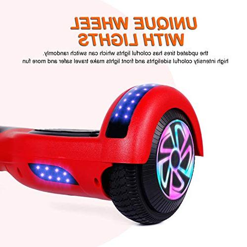 "EPCTEK Hoverboard Self Electric 2272 Certified,6.5"" Kids Adults,with Bluetooth and Light Carry"