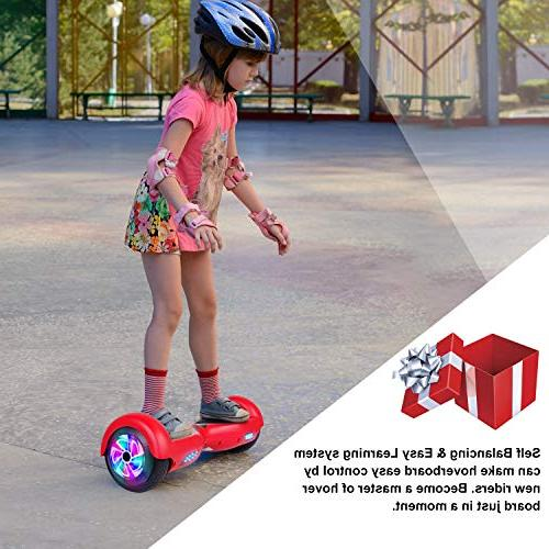 EPCTEK Hoverboard Two-Wheel Balancing Scooter Hover Board Adults with LED Lights Free Carry Bag