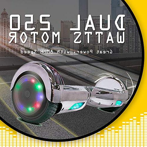 Go-Bowen New -Self Balancing Wheel Electric UL Bluetooth W/Speaker, LED LED Lights
