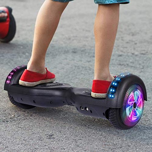 "6.5"" Inch Hoverboard Self Balancing LED Wheels Certified Carbon Fiber"