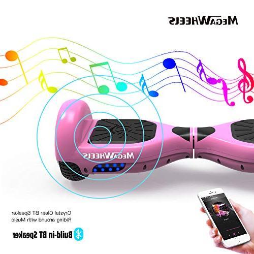 MEGAWHEELS Hoverboard - Certified Self Board with Speaker & LED