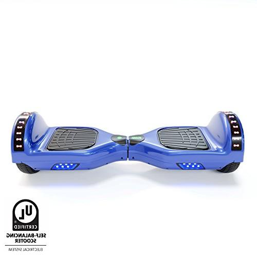 CXInWalk Hoverboard Self Balancing Scooter UL 2272 Certified with Bluetooth Cool LED Lights Free Portable Bag