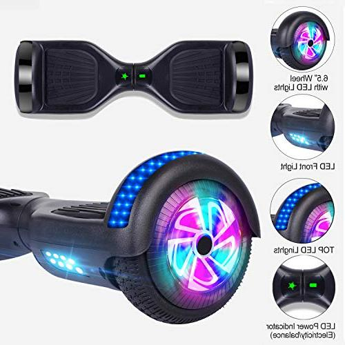 Benedi Two-Wheel Balancing Scooter Hover Board Bluetooth Speaker and Lights