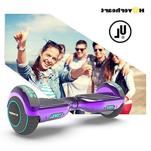Hoverboard Self Balancing Electric Scooter Certified, Chrome LED Light