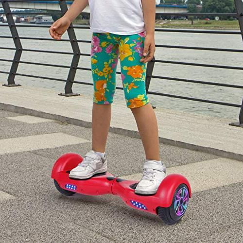 CBD Hoverboard Two-Wheel Scooter Board UL 2272 Certified Scooter with Wheel,Red