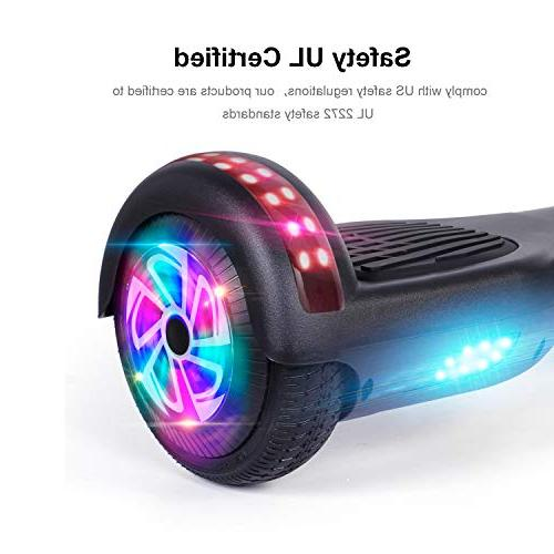 "jolege 6.5"" 2272 Balancing Scooter Flash Wheel Electric Hoverboard with Free Carry Bag-Black"