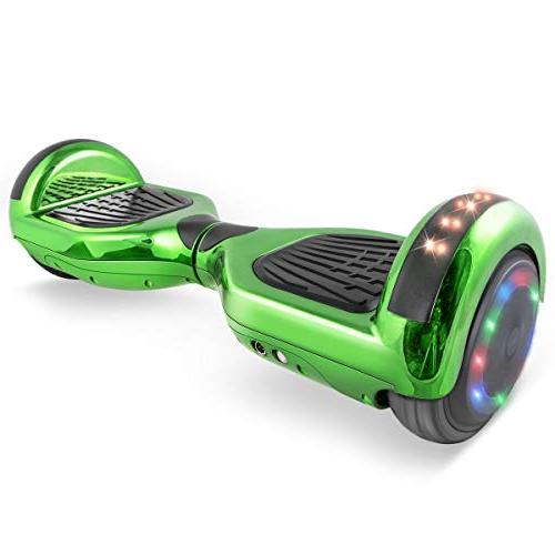 "WorryFree Hoverboard UL2272 Certified 6.5"" Bluetooth Speaker Light Self Electric"