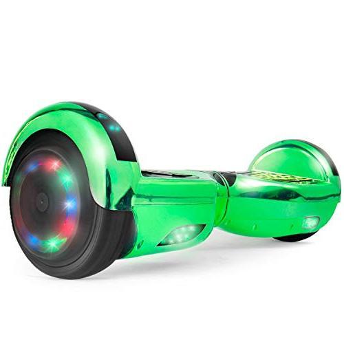 "WorryFree Gadgets UL2272 Certified 6.5"" Bluetooth Speaker Light Self Electric Scooter"