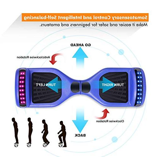 """SENGYUE Hoverboard Two 6.5"""" Electric Dual Motors Hover Gift Adult - Series/LED Marquee/Bluetooth Speaker"""