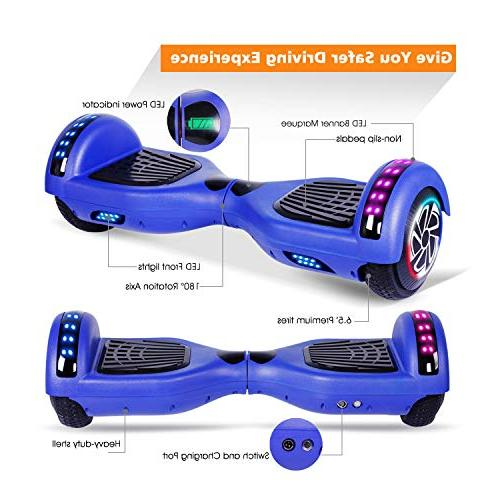"""SENGYUE Two 6.5"""" Wheels Self-Balancing Electric Scooter Motors Gift - Series/LED Marquee/Bluetooth"""