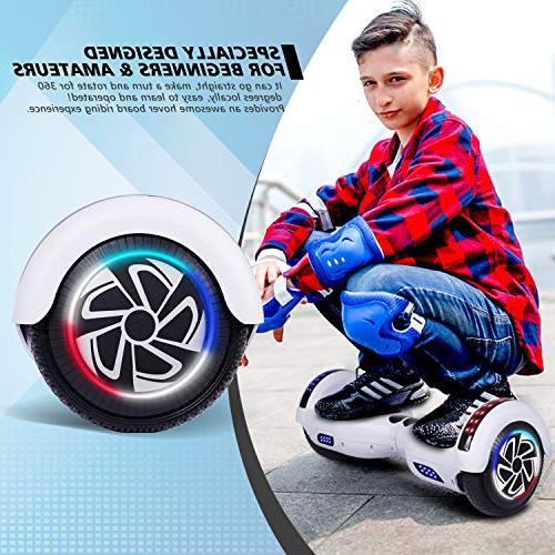 Keepower Two Wheels Self-Balancing Motors Adults Kids Classic Banner Speaker