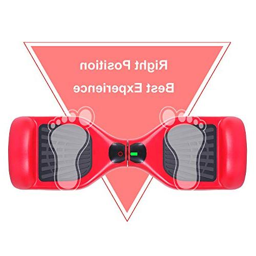 SWEETBUY Hoverboards 6.5 Scooter self Balancing Electric Light Free Charger