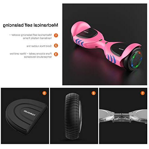 TOMOLOO Hoverboards Bluetooth Speakers and Two Electric Self Balancing Hover Board for Kids Adults- Certified