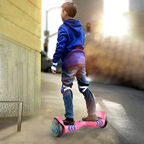 TOMOLOO Hoverboards Speakers and Led Two Wheels Balancing Board Kids Adults- UL2272 Certified